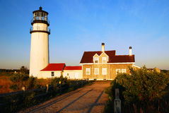 Średniogórza światło, Cape Cod obrazy royalty free