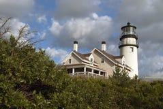 Średniogórza światło w Cape Cod, Massachusetts Fotografia Royalty Free