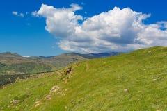 Średniogórze piękny krajobraz Zdjęcie Royalty Free