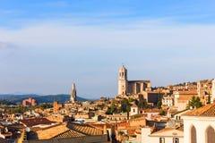 Średniowieczna ćwiartka Gerona Costa Brava, Catalonia, Hiszpania zdjęcia royalty free