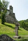 Średniowieczna architektura otręby kasztel w Transylvania, Rumunia fotografia stock
