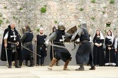 Średniowieczna bitwa obraz stock