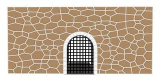 średniowieczna brama wektoru ilustracja ilustracji