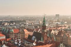 Średniowieczna część WrocÅ 'aw w Polska Obraz Royalty Free