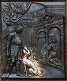 średniowieczna czerep plakieta fotografia stock