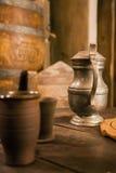 średniowieczna dzbanek cyna zdjęcia royalty free