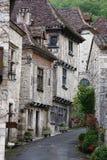 średniowieczna francuskiej street Zdjęcia Royalty Free