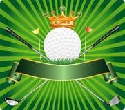 średniowieczna golfowa etykietka royalty ilustracja