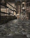 Średniowieczna grodzka wioska Zdjęcia Stock