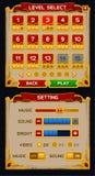 Średniowieczna gry GUI paczka Obrazy Stock