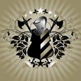 średniowieczna heraldyczna shield Fotografia Royalty Free