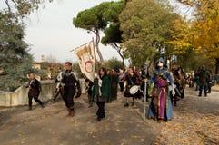 Średniowieczna i fantazja parada przy zdjęcia royalty free
