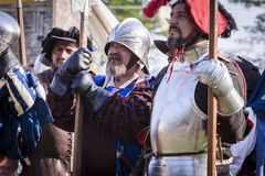 Średniowieczna reżyserująca bitwa - Rievocandum 2015 zdjęcia stock