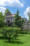 Średniowieczna San Agostino brama w Bergamo WŁOCHY Zdjęcie Stock