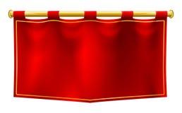Średniowieczna sztandar flaga ilustracja wektor