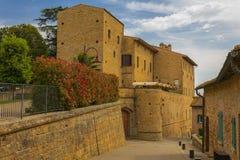 Średniowieczna Toskańska wioska Obrazy Royalty Free