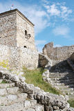 Średniowieczna wieża obserwacyjna i schodki Obraz Stock