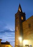 Średniowieczna wioska Falerone w Włochy Obrazy Royalty Free