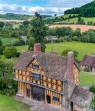 Średniowieczna wioska Stokesay obrazy royalty free