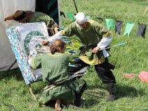 Średniowieczne łuczniczki Zdjęcia Royalty Free