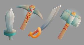 Średniowieczne bronie i ammo ilustracji