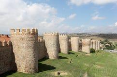 Średniowieczne miasto ściany Avila, Hiszpania Fotografia Royalty Free