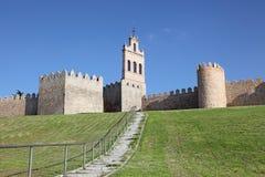 Średniowieczne miasto ściany Avila, Hiszpania Zdjęcia Royalty Free