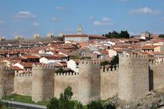 Średniowieczne miasto ściany Avila, Hiszpania Zdjęcie Stock