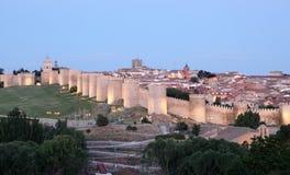 Średniowieczne miasto ściany Avila, Hiszpania Zdjęcia Stock