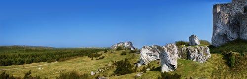 Średniowieczne ruiny Mirow kasztel, Polska Zdjęcie Royalty Free