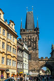 Średniowieczne ulicy i architektura w Praga Fotografia Royalty Free