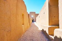 Średniowieczne ulicy Rayen forteca obrazy royalty free