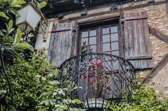średniowieczni balkonowi południe France Obraz Royalty Free