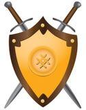 Średniowieczni kordziki z osłoną ilustracja wektor