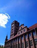 Średniowieczni Przyglądający miasteczka Hall zdjęcie stock