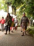 Średniowieczni rycerze przy UN Tuffo Nel Passato 2017 obrazy royalty free