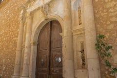 Średniowieczny łękowaty portal Fotografia Stock
