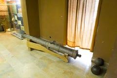 Średniowieczny śródpolny kanonu exposé w muzeum obrazy stock