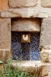 Średniowieczny źródło wody fotografia stock