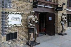 Średniowieczny bankiet Londyn obraz stock