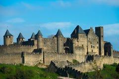 Średniowieczny Carcassone miasteczko Zdjęcie Stock