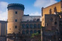 Średniowieczny Castel Nuovo, Naples, Włochy Fotografia Royalty Free