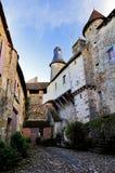 Średniowieczny Cobles, wieżyczki i Góruje, święty Benoit Du Sault, Indre Francja Zdjęcie Royalty Free