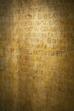 średniowieczny czerepu tekst Fotografia Royalty Free
