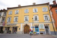 Średniowieczny dom w Judenburg zdjęcie stock