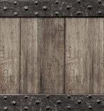 Średniowieczny drewniany bramy drzwi tło Obrazy Royalty Free