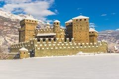 Średniowieczny Fenis kasztel w Aosta dolinie, Włochy Zdjęcie Stock