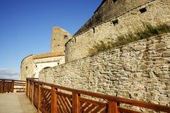 Średniowieczny forteca Deva, Hunedoara okręg administracyjny, Rumunia Fotografia Stock