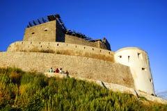 Średniowieczny forteca Deva, Hunedoara okręg administracyjny, Rumunia Obraz Royalty Free