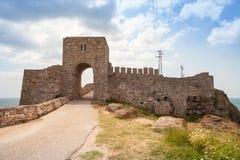 Średniowieczny forteca Kaliakra, Bułgarski Czarny Denny wybrzeże Obraz Stock